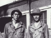 Headquarter Company. Sueo Noda and Stanley Hamamura, Camp Shelby, Miss. Spring 1943 [Courtesy of Fumie Hamamura]
