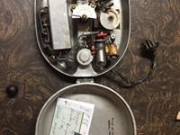 Mess kit radio built by Hidenobu Hiyane (Courtesy of Joyce Walters)