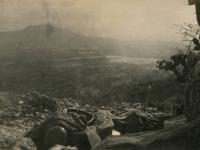Cassino - foxhole view of Cassino flats. (Courtesy of Joyce Walters)