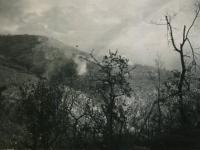 Cassino, Italy. Shells falling. (Courtesy of Joyce Walters)