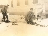 Taken at Camp McCoy - Wis. 1/3/43. Spring. (Courtesy of Joyce Walters)