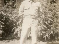 "Koomei Yoshisato. Camp McCoy, Wis 43. ""Peep Sight."" (Courtesy of Joyce Walters)"