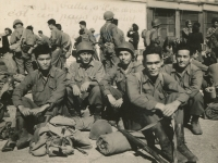 Marseilles, France. The day we landed '44. (Courtesy of Joyce Walters)