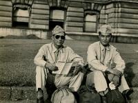 Des Moines, Iowa. Fred Hosakawa (dark glasses) and H. Hiyane. (Courtesy of Joyce Walters)