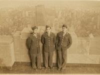 Picture taken atop Empire State Bldg. Kikuta, Kidani, Hiyane. (Courtesy of Joyce Walters)
