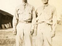 Fred Hosokawa, Morio Kidani, Camp McCoy (Courtesy of Joyce Walters)