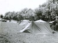 Reserve area tents. [Courtesy of Carol Inafuku]