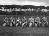 Members of the 100th/442nd football team in Italy [Courtesy of Carol Inafuku]