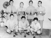 Jimmy Inafuku (bottom right) with fellow veterans after a bowling tournament, Honolulu, HI [Courtesy of Carol Inafuku]