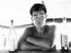 Jimmy Inafuku at the camp bar, Lecco, Italy, 1945 [Courtesy of Carol Inafuku]