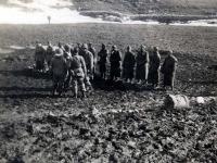 Prisoners in the mountains beyond Venofro – just before reaching Cassino [Courtesy of Paul K. Kadowaki]