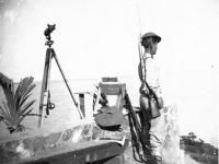 James Kawashima standing watch at Wailea Point near Waimanalo [Courtesy of Alexandra Nakamura] Inscription: James Kawashima stands watch at Wailea Point on the border of Waimanalo. 1941