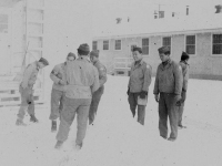 Group of soldiers in the snow. Sonsei Nakamura [Courtesy of Sonsei Nakamura]