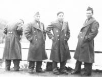 Jiro Nakasato, Takeo Azama, Fred Nakama. [Courtesy of Sonsei Nakamura]