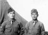 Nakamura and Kobashigawa at Camp McCoy, Wisconsin [Courtesy of Sonsei Nakamura]