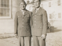 Camp McCoy, Nov. 30, 1942 - Calvin Shimogaki and Takeo Yoshioka in dress uniform. He is Yukata's brother. (Courtesy of Alvin Shimogaki)
