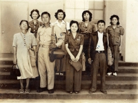 Calvin Shimogaki with wife Ethel, his parents and four sisters.  (Courtesy of Alvin Shimogaki)