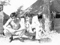 Goro Sumida and Raymond Taomae at Camp McCoy, Wisconsin [Courtesy of Goro Sumida]