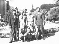 Morioka, Matsushima, Sumida & 5 other soldiers. [Courtesy of Goro Sumida]