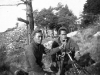 Blue Konishi and Fred Takayama set up a mortar, Italy [Courtesy of Goro Sumida]