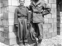 William Takaezu and Italian boy in Tuscany, Italy. [Courtesy of Mrs. William Takaezu]