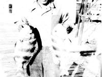 William Takaezu with Sheepshead fish on Cat Island, Mississippi. [Courtesy of Mrs. William Takaezu]