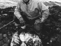 Herbert Ishii with the day's catch from Cat Island, Mississippi. [Courtesy of Mrs. William Takaezu]