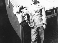 William Takaezu at camp on Ship Island, Mississippi.