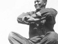 William Takaezu at camp on Ship Island, Mississippi. [Courtesy of Mrs. William Takaezu]