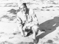 James Shintaku at camp on Ship Island, Mississippi. [Courtesy of Mrs. William Takaezu]