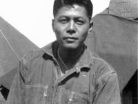 William Takaezu on Ship Island, Mississippi. [Courtesy of Mrs. William Takaezu]