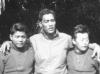 """William Takaezu, William Kato, and Yoshimasa """"Pachi"""" Kawaguchi. [Courtesy of Mrs. William Takaezu]"""