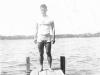 William Takaezu on a dock in Ship Island, Mississippi. [Courtesy of Mrs. William Takaezu]