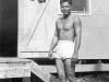 William Takaezu ready to go swimming on Cat Island, Mississippi. [Courtesy of Mrs. William Takaezu]