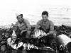 Masao Hatanaka and Yukio Yokota with day's catch from Cat Island, Mississippi. [Courtesy of Mrs. William Takaezu]