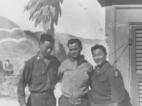 Capt. G. Takahashi, Denis Teraoka and Lt. Michio Takata (Courtesy of Joy Teraoka)