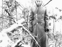 Chester Kuwahara at Camp McCoy, Wisconsin (Courtesy of Alvin Tsukayama)