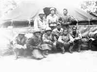Soldiers gather together for a group photo at Camp McCoy, Wisconsin (Courtesy of Alvin Tsukayama)