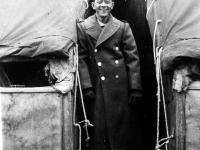 Private Nishio at Camp McCoy, Wisconsin. Inscription: Pfc. Nishio