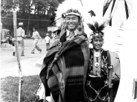 100th Battalion Soldier dressed up as a Wisconsin Dells Indian, Wisconsin (Courtesy of Alvin Tsukayama)