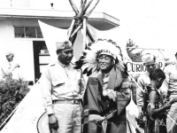 Lt. Kometani - And a Hawaiian Indian (Courtesy of Alvin Tsukayama)