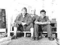 Army game Chester Hada, I. Nakashima, & Bert Miyata (Courtesy of Alvin Tsukayama)