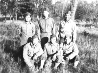 L-R. Front. Kenneth Nikaido - Bert Miyata, C. Tsukayama - Rear - I. Watanabe Ken Kugiyama; Minoru Tosaka (Courtesy of Alvin Tsukayama)