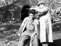 Soldier haircut at Camp McCoy, Wisconsin (Courtesy of Alvin Tsukayama)
