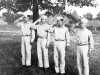 Men saluting at Camp McCoy, Wisconsin