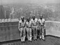 U. Wozumi, Isao Nadamoto, Richard Yamada, and Harold Sugiyama atop the Empire State Building [Courtesy of Ukichi Wozumi]