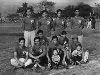 Members of the Club 100 baseball team [Courtesy of Ukichi Wozumi]
