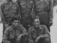Uki Wozumi, Jim Shintaku, Tokuzo Ono, William Takaezu, and Sigeyuki Guma [Courtesy of Ukichi Wozumi]