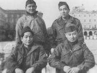 Ken Teruya, Uki Wozumi, Harold T. Tabata, and friend [Courtesy of Ukichi Wozumi]