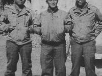 Choriki Shimabuku, Lt. Fred Kanemura, and Uki Wozumi [Courtesy of Ukichi Wozumi]
